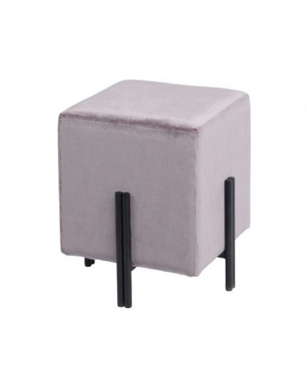 Chancery Marine Blue Square Stool